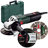 Metabo W9-115KIT 4-1/2'' 8.5A Angle Grinder w/Diamond Wheel + 10pk Cut Wheels