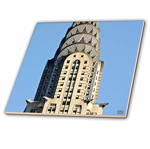 3dRose ct_10266_1 The Chrysler Building is an Art Deco Skyscraper in New York City, Located on The East Street-Ceramic Tile, 4-Inch -