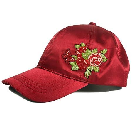 Gorra de béisbol de satén de Estilo Chino Bordado de Moda de Marea ...