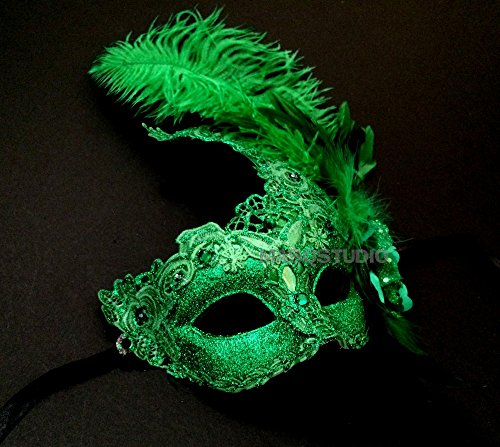 MASQSTUDIO Brocade Lace Masquerade Ball Mask Christmas New Year Eve Mardi Gras Party -