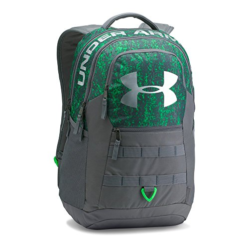 Under Armour Big Logo 5.0 Backpack, Lime Twist (974)/Silver, One Size