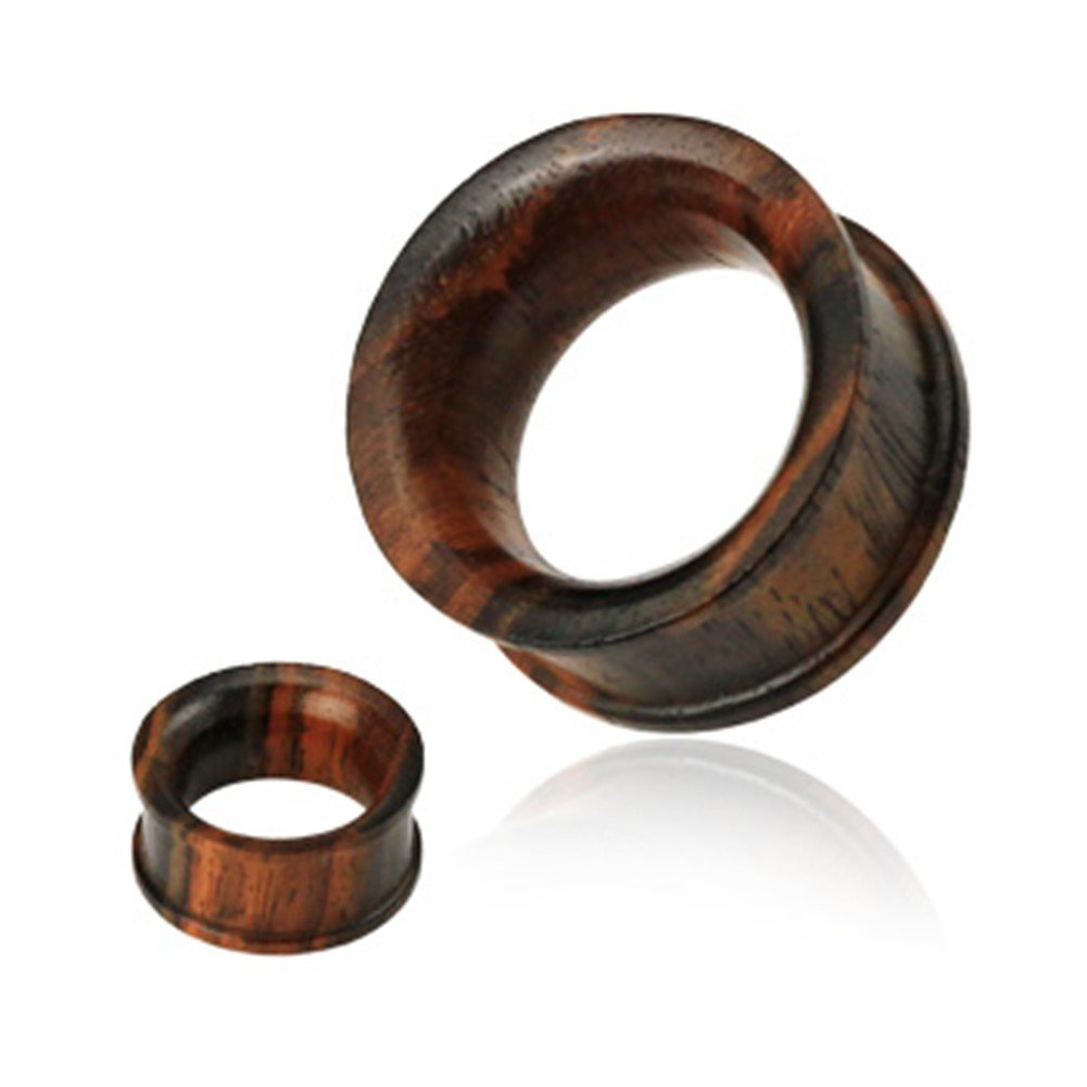 Pair Of Concave Double Flat Flared Tunnel Organic Sono Wood Plugs Gauge: 0 (8.0Mm) MsPiercing tunnels pr_sku_206881