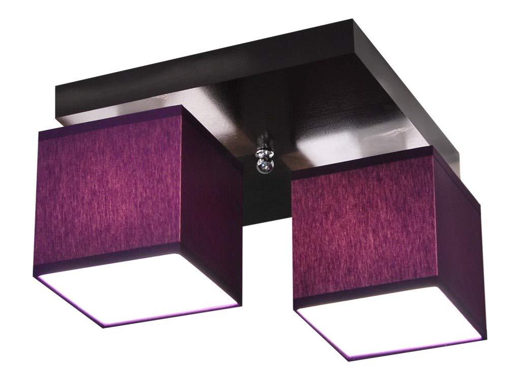 Deckenlampe Deckenlampe Deckenlampe - HausLeuchten LLS229D, Deckenleuchte, Leuchte, Lampe, 2-flammig, Massivholz bdd302