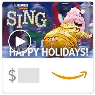Amazon eGift Card - Sing Holiday (Animated) (B01MYXDGUZ) | Amazon price tracker / tracking, Amazon price history charts, Amazon price watches, Amazon price drop alerts