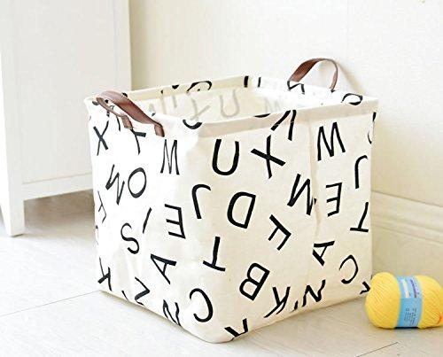 Storage Basket, Large Size Basket Storage for Toys, Kids, Pets, Laundry Bin – Waterproof and Folding Canvas Fabric Kids Laundry Basket/Nursery Hamper (Toy Storage Kids Bins)