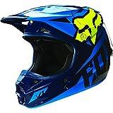 Fox Racing 2016 Race Men's V1 Motocross Motorcycle Helmet - Blue/Yellow / Small