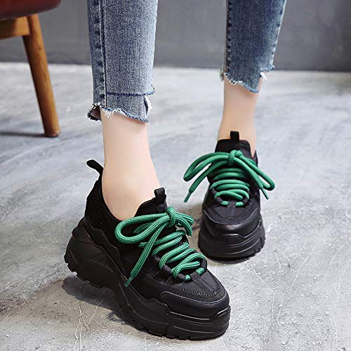 Baskets Air Décontractées En Chaussures Femmes Femme Hiver Plein Noir gongzhumm Marche Mode De 2018 6AI7qAF