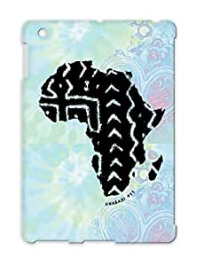 TPU Black For Ipad 3 Illustration Art Design Designs By Habari 411 Africa Map Mud Cloth BW Cover Case