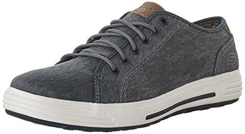 Skechers Herren-Porter Meteno Canvas Lace Up Sneaker - Navy, Marineblau, 46