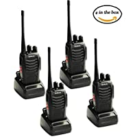 Galwad-888S Walkie Talkie 16 Channels Signal Band UHF 400-470MHz Portable Ham CB Two Way Radio Long Range 4pcs Walkie Talkies with Rechargeable Battery Belt Clip Headphone Charger (4 Pack of Radios)