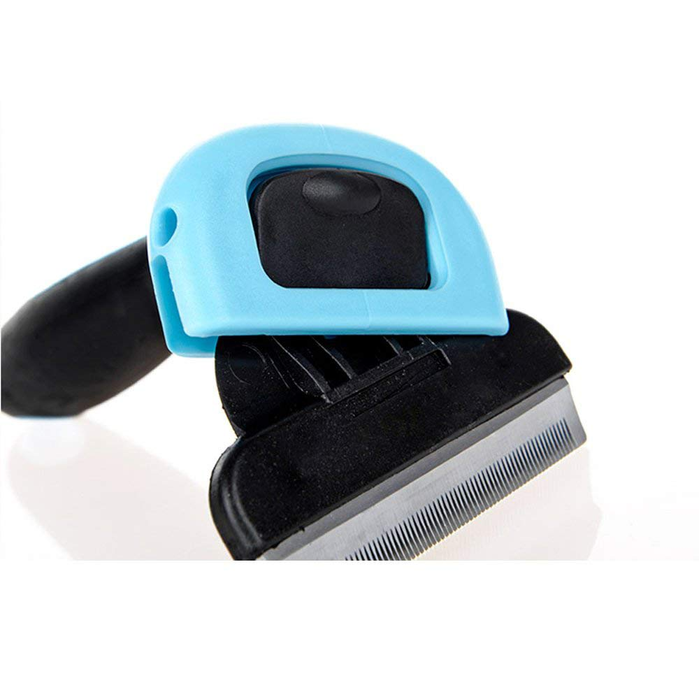 bluee Large bluee Large Cat to depilate Comb Brush Dog Open Knot Comb pet Hair Loss golden Hair with Brush Hair Removal Beauty Hair Removal Hair Open Knot Comb for Dog and cat Comb pet Comb Beauty Comb Bath Comb,bluee,L