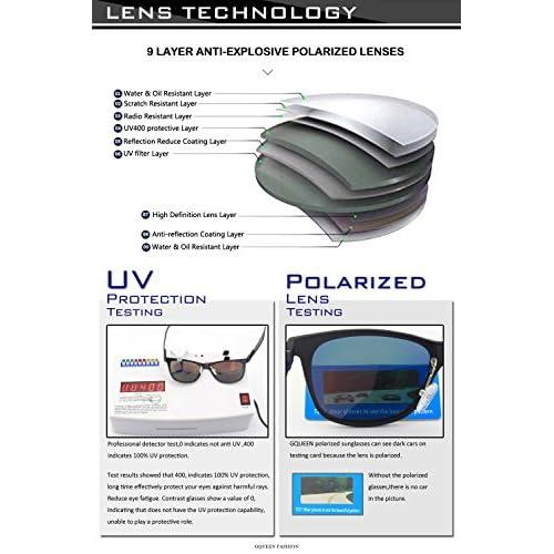 934ac2437b GQUEEN Los hombres Retro Bastidor Al-Mg Caminante gafas de sol polarizadas  protección UV400 MS0