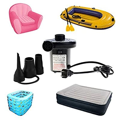 Electric Air Pump With Three Nozzles (150W) A/C 110V-120V, 50Hz : Sports & Outdoors