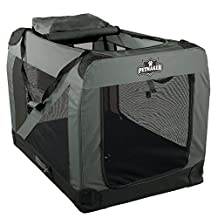"PETMAKER Portable Soft Sided Pet Crate, 42""x28"", Gray"
