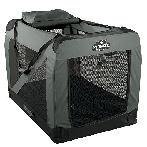 (PETMAKER Portable Soft Sided Pet Crate, 42