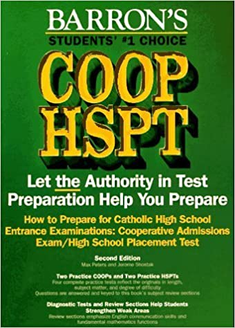 Book How to Prepare for the Coop Hspt Catholic High School Entrance Examinations (Barron's How to Prepare for Catholic High School Entrance Examinations Coop/Hspt) by Max Peters (1997-01-03)