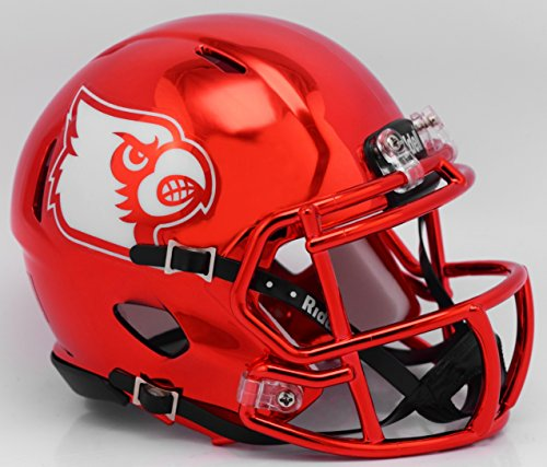 Riddell Ncaa Football - Louisville Cardinals Alternate Red Chrome NCAA Mini Speed Football Helmet