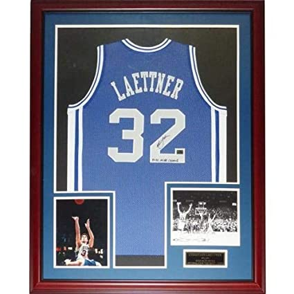 3915619d3e2e Image Unavailable. Image not available for. Color  Christian Laettner  Autographed Signed ...