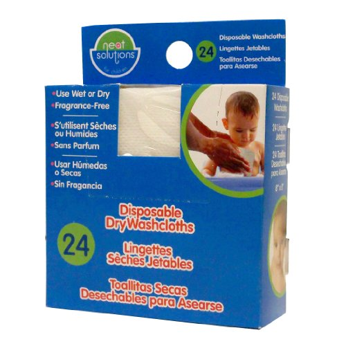 Dry Washcloths (Neat Solutions Disposable Washcloths, 24 Count)