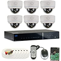 GW Security High End 8 Channel CCTV DVR Surveillance Security Camera System with 6 High-Resolution 850TVL Varifocal Zoom Cameras and Pre-Installed 1TB Hard Drive, Outdoor or Indoor Use