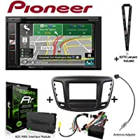 Pioneer AVIC-5201NEX 6.2 Navigation AV Receiver iDatalink KIT-C200 Dash and wiring kit for select Chrysler, ADS-MRR Interface Module and BAA22 Antenna Adapter and a SOTS Lanyard