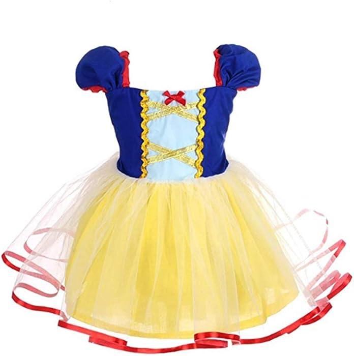 5aad6f9ea27 iiniim Baby Toddler Girls Mermaid Princess Tutu Dress Halloween Costumes  Party Fancy Dress up Clothes Yellow