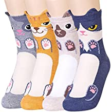 Womens Animal Cat Dog Pattern Casual Socks - Fun Cool Cute Novelty Christmas Gift Idea, Perfect Present for women