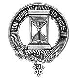 Houston Scottish Clan Crest Badge ~ Sterling Silver