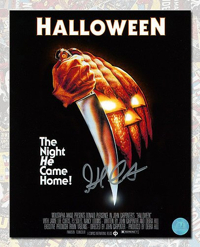 John Carpenter Autographed Halloween Movie Poster 8x10 Photo - Authentic Autographed (Halloween Shops Online)