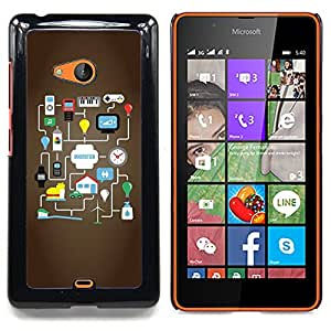 Pulsar Snap-on Series Teléfono Carcasa Funda Case Caso para Nokia Lumia 540 , Idea Google Juego para Android""