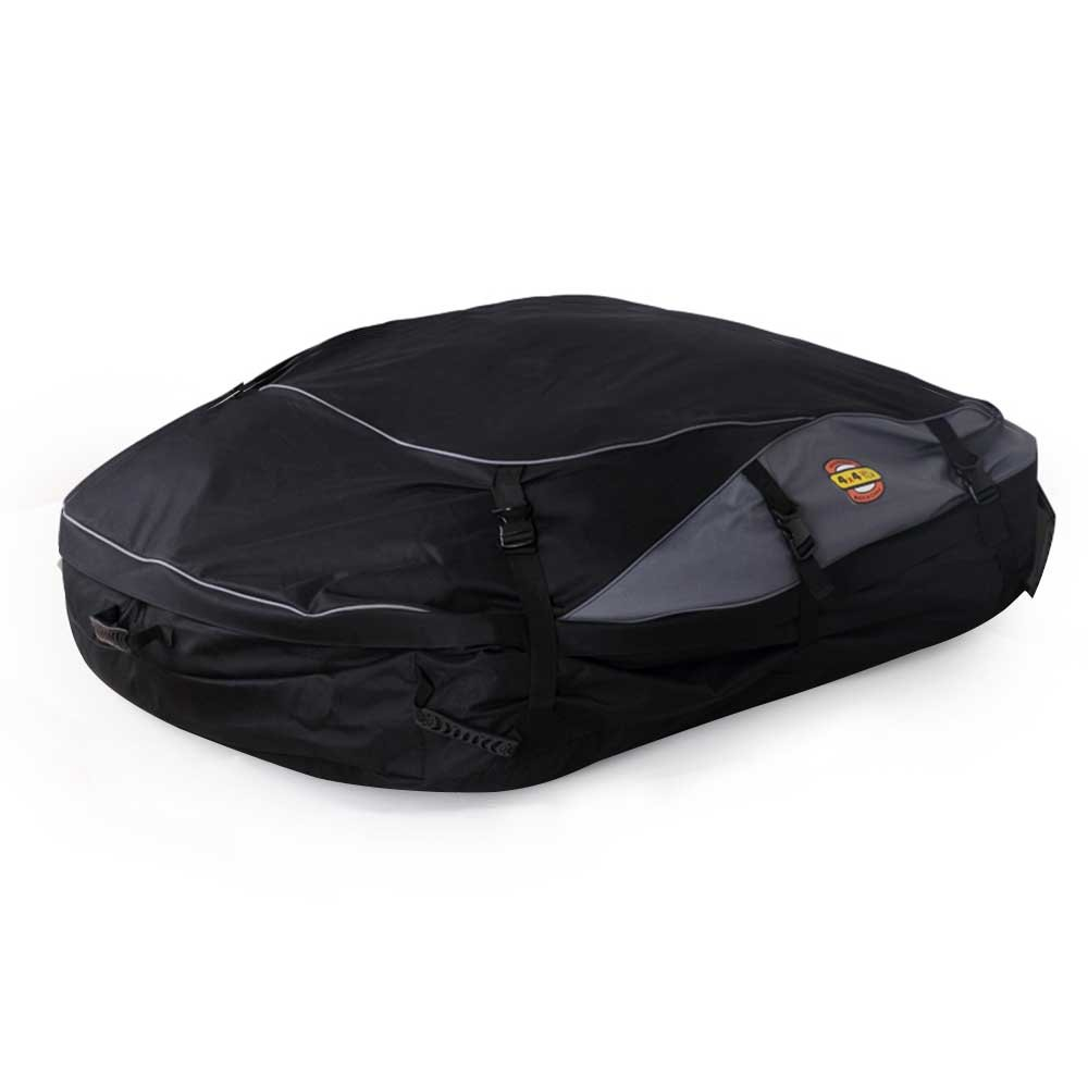 Wisamic Car Roof Cargo Bag 30 Cubic Feet Car Roof Top Carrier Soft Rooftop Luggage Carriers with Wide Straps-Large