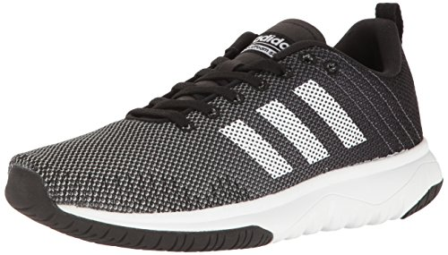 adidas NEO Men's Cloudfoam Super Flex Running Shoe Black/White/Onix 10.5 M US