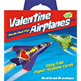 Peaceable Kingdom Valentine Airplanes - 28 Folding Airplane Cards