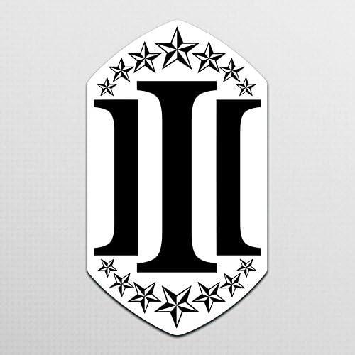 D012 5.5-Inches Premium Quality Vincit Veritas The Three Percenters Black Vinyl Decal Sticker