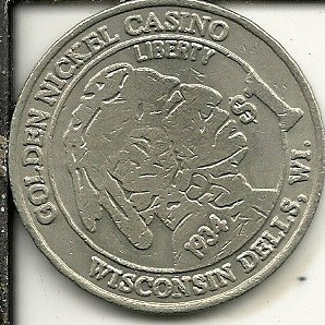 - $1 nicken 1934 casino token coin wisconsin dells wisconsin obsolete