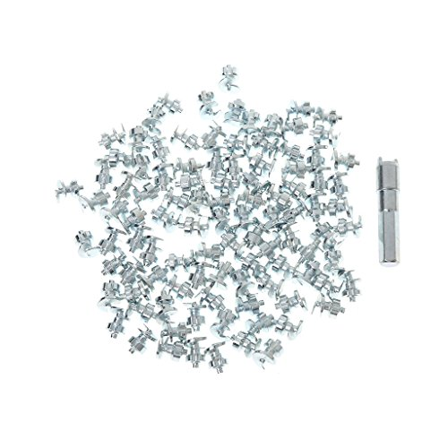 RingBuu 100 Pcs Wheel Tires Studs Screw, Winter Snow Spikes Chains Grip for Car Bike Motorcycle