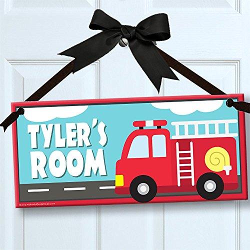Little Fire Truck Fireman Personalized Kids Door/Wall