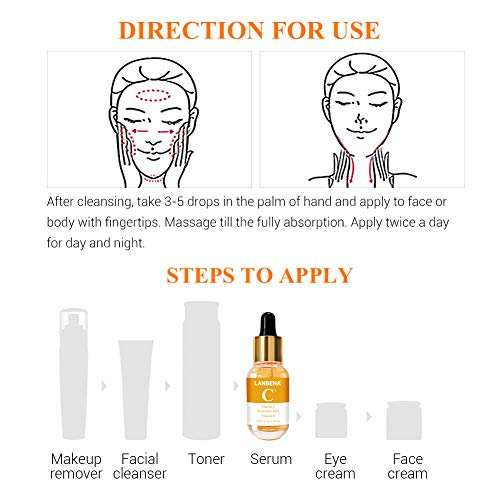 51gkMxMKUAL - Vitamin C Serum for Face and Skin - With Hyaluronic Acid, Niacinamide, Retinol - Natural Anti Aging, Anti Wrinkle Serum for Skin Brightening and Moisturizing - 1.37 Fl. Oz