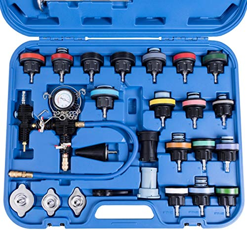 LHONE 28PCS Universal Radiator Pressure Tester Sdapters and Cooling System Vacuum Refill Purge kit by LHONE (Image #2)