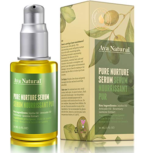 All Natural Face Serum Moisturizer - Vegan Anti Aging Anti Wrinkle Hydrating Daily Facelift Serum for Facial Dry Skin by Aya Natural (Best Anti Aging Serum For Dry Skin)
