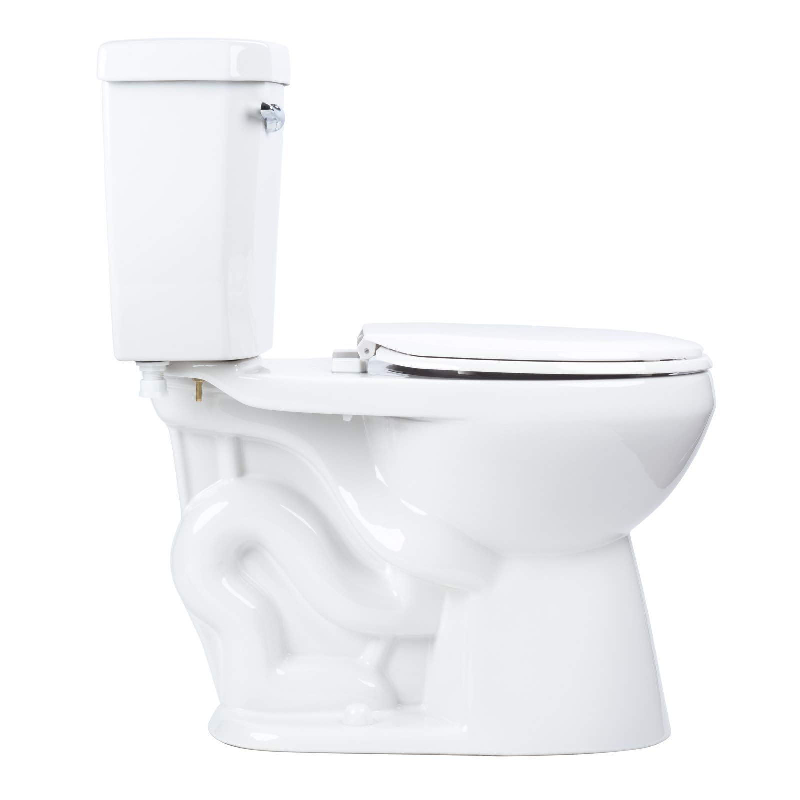 Miseno MNO1500C High Efficiency 1.28 GPF Two-Piece Round Chair Height Toilet with Seat and Wax Ring Included by Miseno