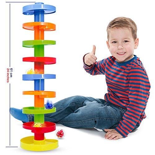 Toys Junior Ring (Ball Drop. Educational Family Fun for Baby and Toddler. Stack them)