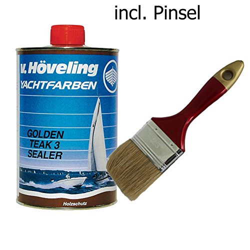 Höveling Golden Teak 3 Sealer D 07 1 Liter incl. Lackierpinsel