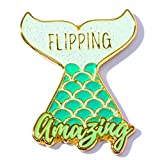 Flipping Amazing Mermaid Appreciation Award Lapel Pins, 12 Pins