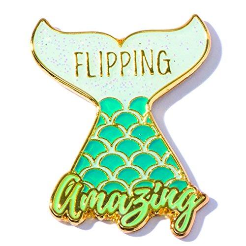 Flipping Amazing Mermaid Appreciation Award Lapel Pins, 12 (Appreciation Lapel Pin)