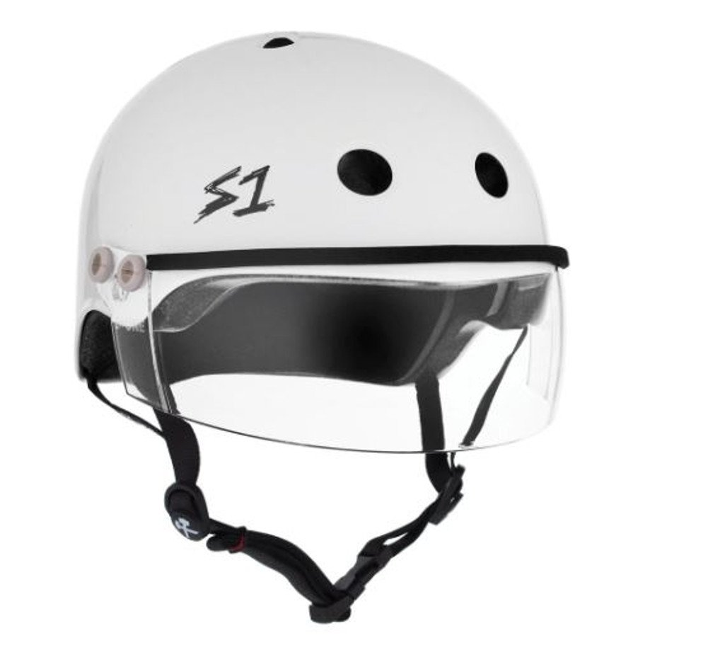 S-ONE Lifer Visor CPSC - Multi-Impact Helmet - White Gloss w/Clear Visor (Small 21'')