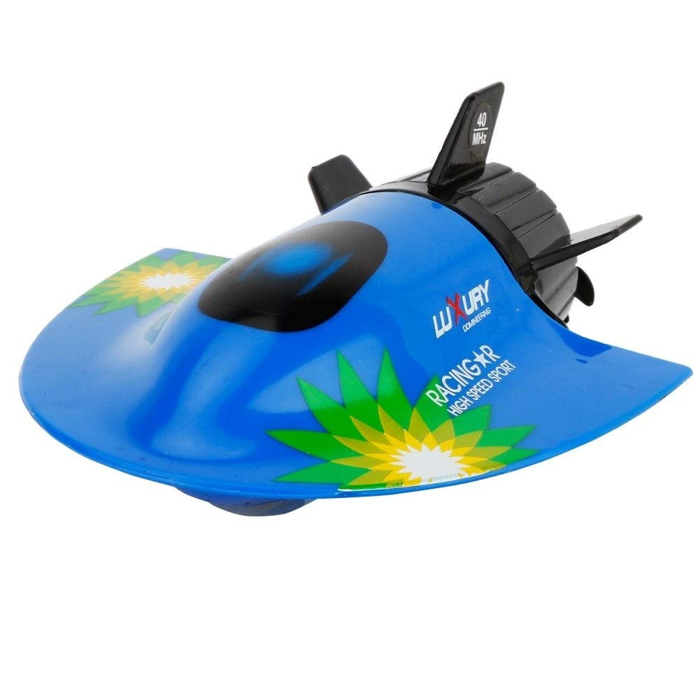 Woote RC Boats for Lakes, Rivers and Pools, RC Boats for Kids and Adults, 2.4GHz Remote Control Toy Boats, Mini Remote Submarine, Water Children's Toy Remote Control Boat ( Color : Blue ) by Woote