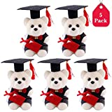 Amycute 5 PCS Graduation Plush Teddy Bear, Happy Graduation Bear Gift for Graduation