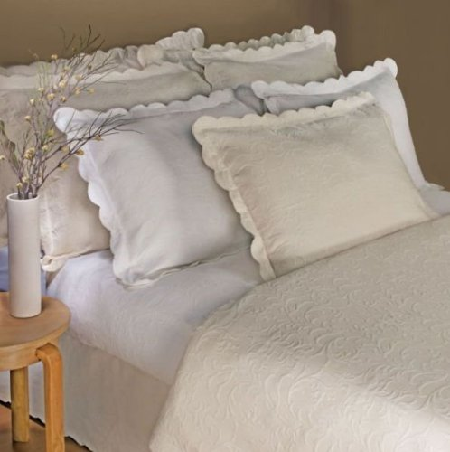 Lamont Home Majestic Matelasse King Sham Coverlet, White