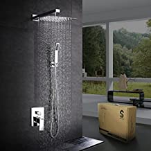 SR SUN RISE Shower System CA-F5043 Bathroom Luxury Rain Mixer Shower Combo Set Wall Mounted Rainfall Shower Head System Polished Chrome